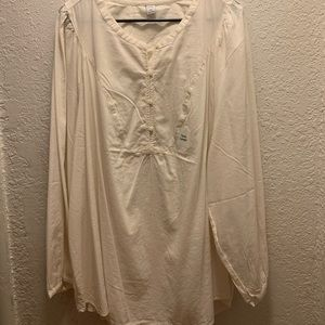 Women's cream colored tunic top